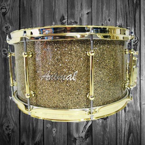 Ginger Glass Glitter Snare Drum
