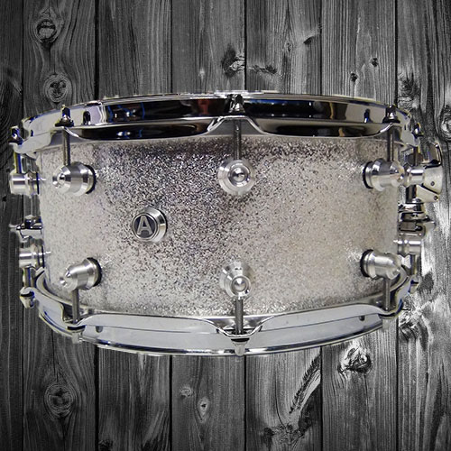 Silver Sparkle Snare Drum