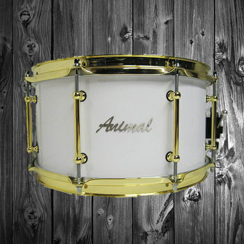 White Gloss Snare Drum