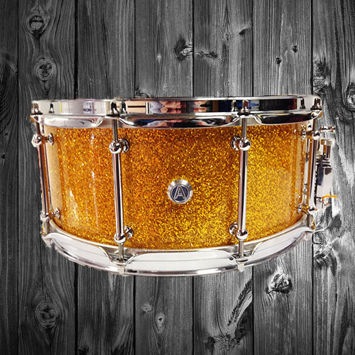 Gold Sparkle Snare Drum
