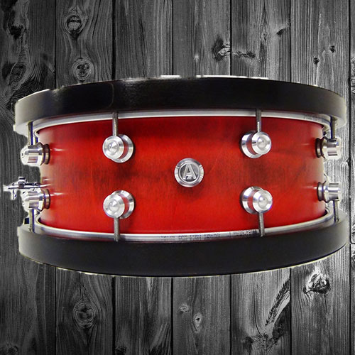 Red Stain Snare Drum